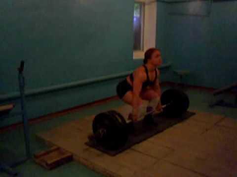 Юлия Зауголова становая тяга 3