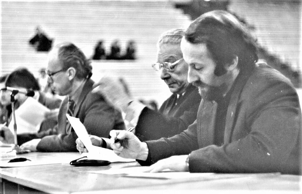 Слева направо: Р. Калинаускас - Литва, Р.П. Мороз – председатель комиссии Москва, Е.И. Колтун – Тюмень(фото из личного архива Е.И. Колтуна)