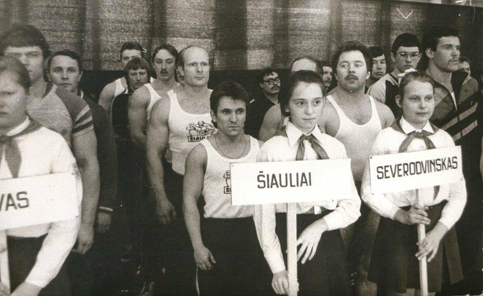 Парад открытия чемпионата Литовской ССР, 1983 год (Фото из архива Арунаса Петрайтиса)