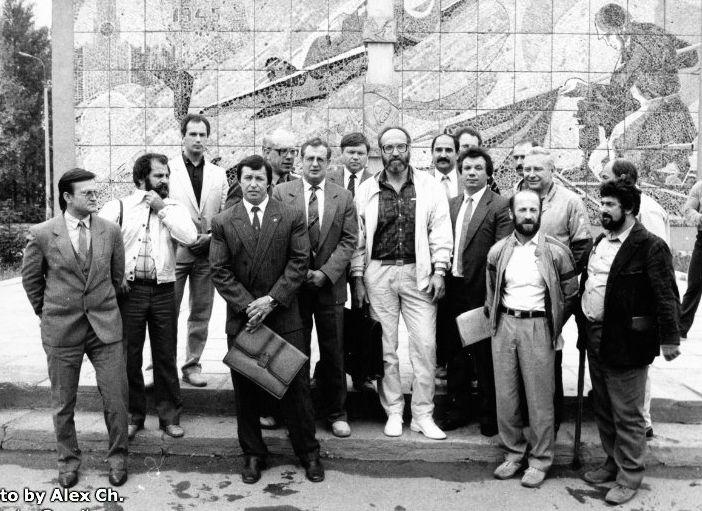 Первый Президиум Всесоюзного совещания в Кубинке, 1987 год. (Фото из личного архива А. Черепанова)