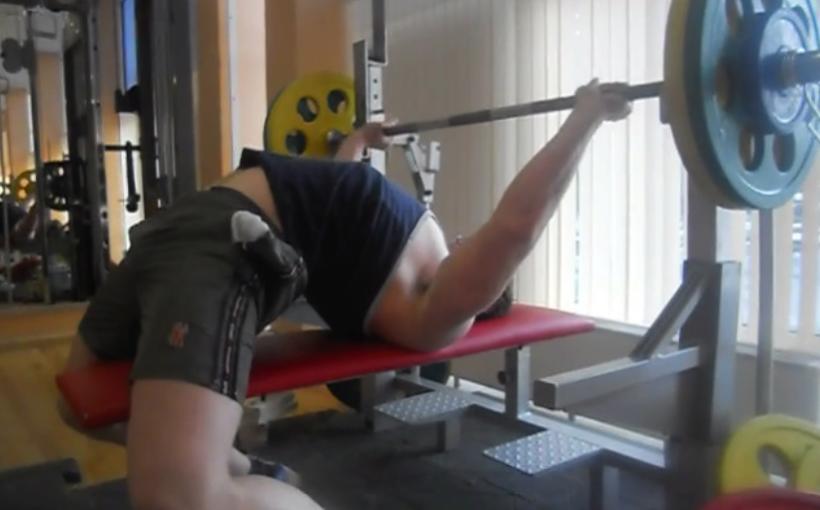 Русский жим 75 килограммов - Илья Бойко