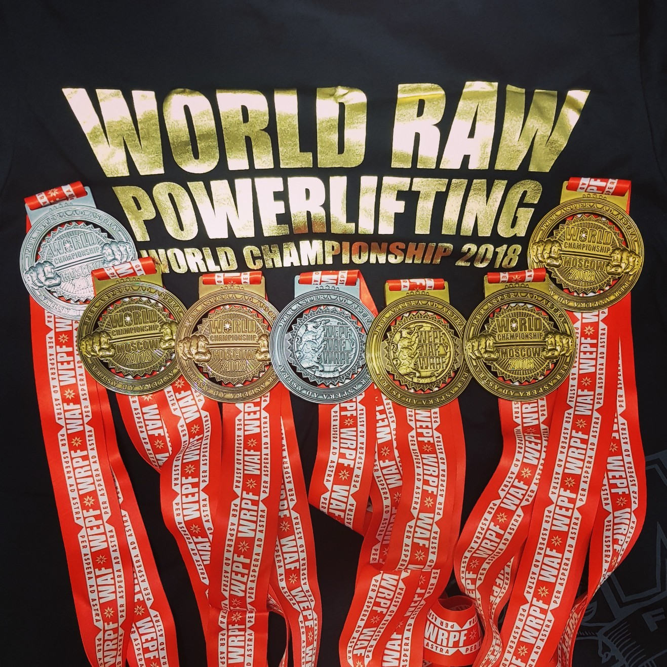 Награды с Чемпионата мира WRPF 2018