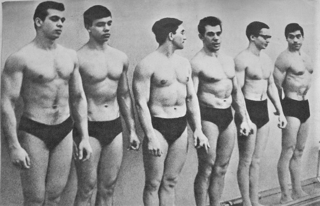 Слева направо: И. Петрухин, Е. Помогаев, Г. Балдин, О. Зуйков, Л. Грачев, А. Заботин