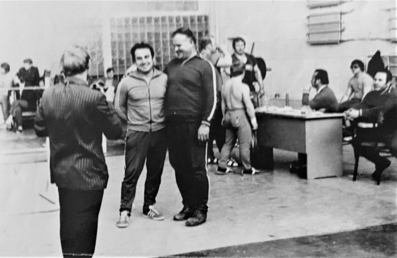 Гл. тренер сборной СССР И.С. Кудиков и В.А. Нечепуренко