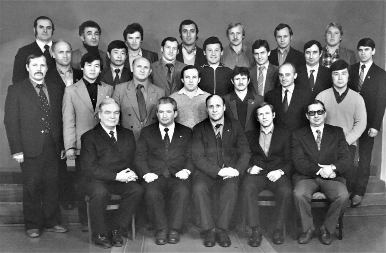 Участники семинара тренеров по тяжелой атлетике ЦС Динамо