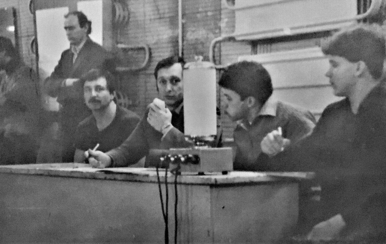 1986 год, первенство облсовета «Енбек» среди юношей, секретарь Б. Шейко